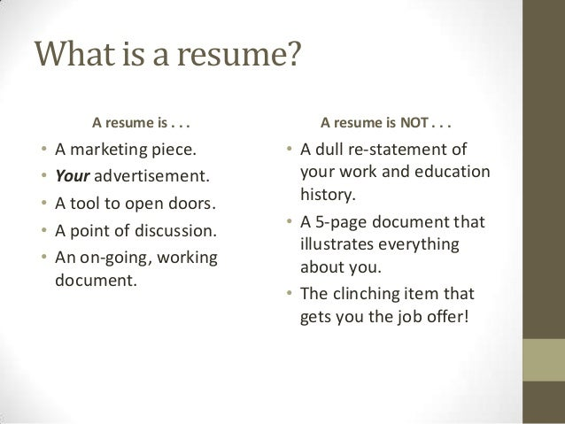 3 what is a resume