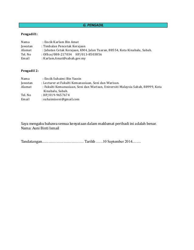resume bahasa melayu lengkap