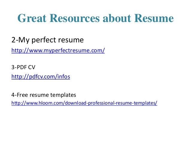 16 great resources about resume 2 my perfect - My Perfect Resume Login