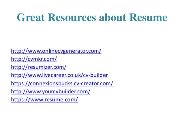 17 great resources about resume