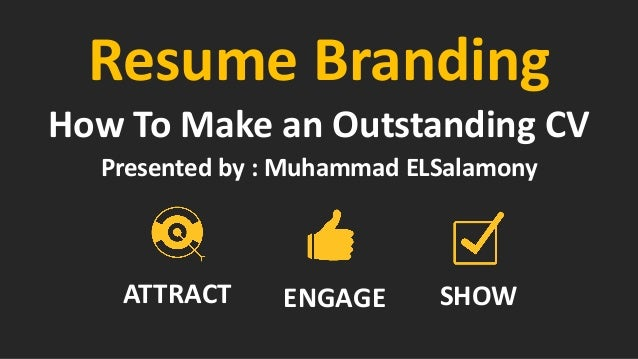 Resume Branding Session Experience inbound Initiative