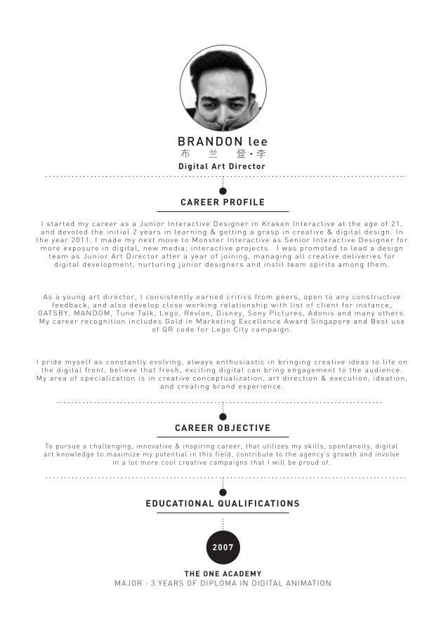 Resume of Brandon Lee