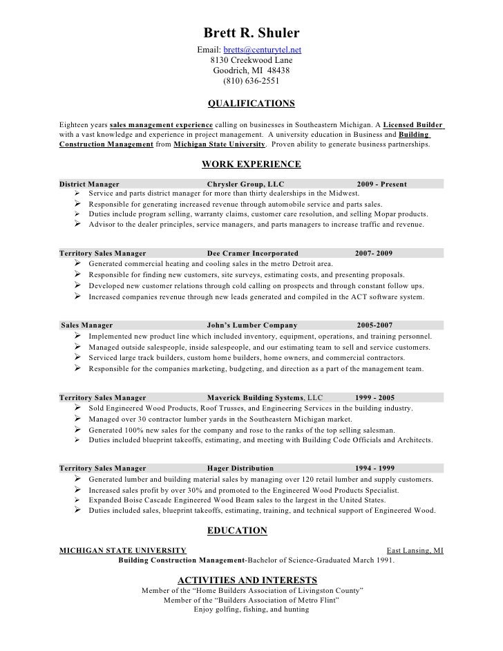 resume brett shuler chrysler 1