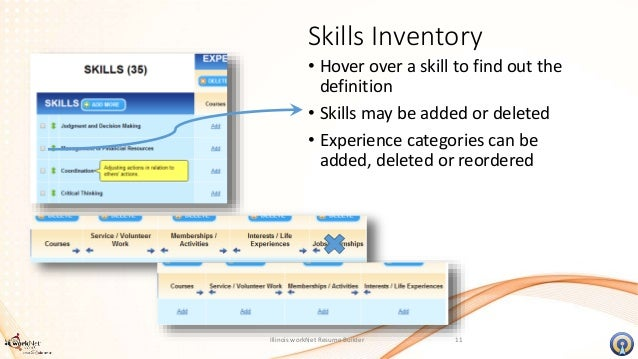 self assessments resume builder tools