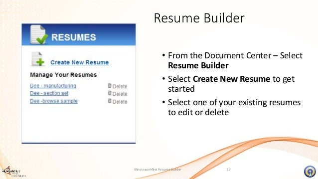18 illinois worknet resume builder
