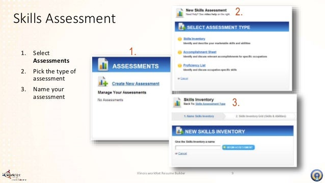illinois worknet resume builder skills assessment 8 8