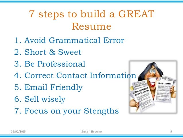 9 7 steps to build a great resume