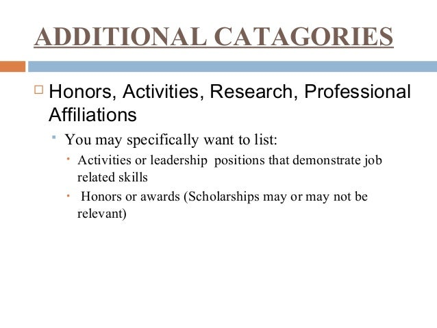 Resume Building Activities For College Students Create