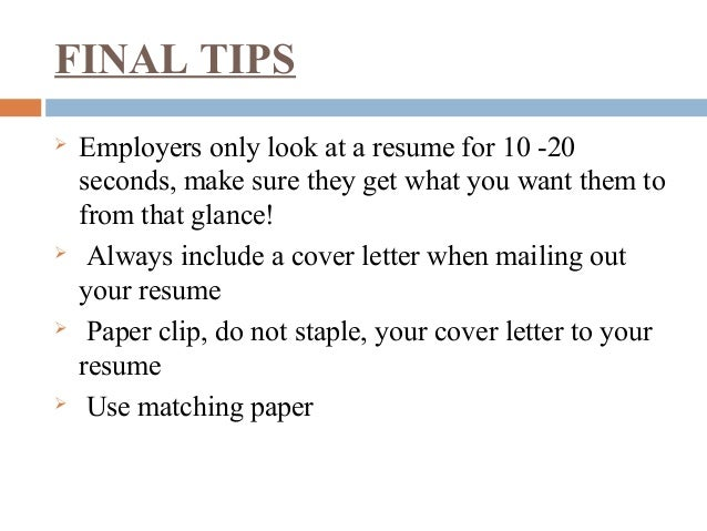 do you staple cover letter to resume do you staple a cover