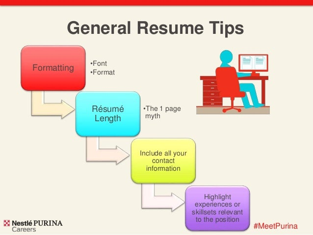 ... Throughout Résumé Content; 7. #MeetPurina General Resume Tips ...  Building A Resume Tips