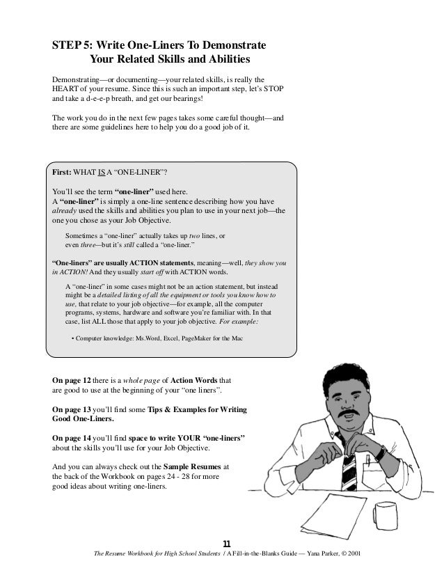 resume one liners