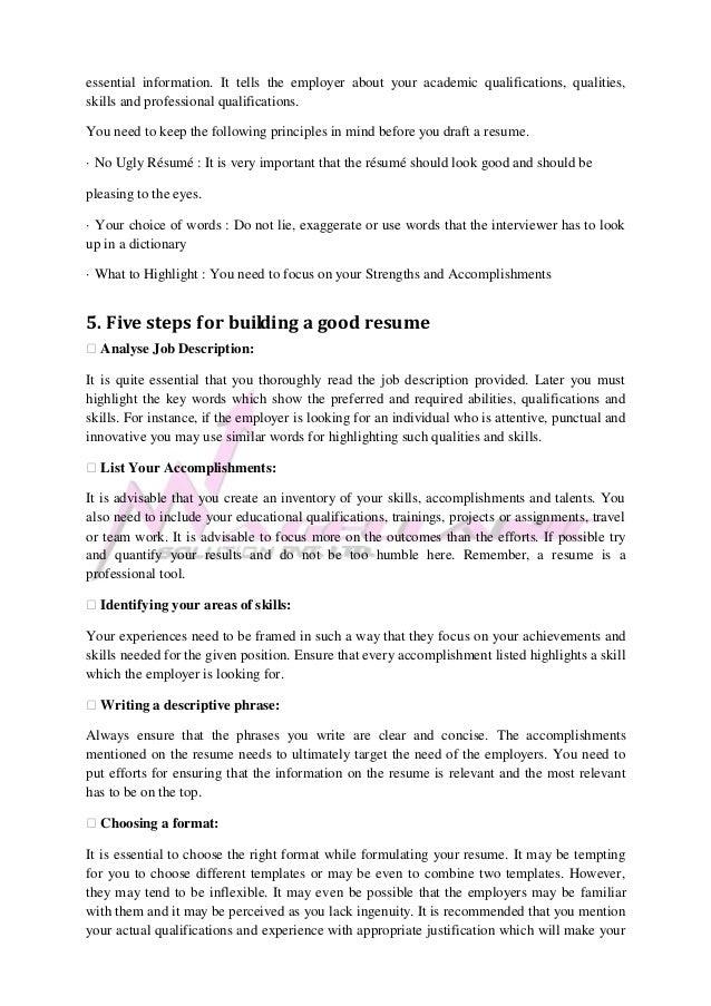 4 essential information