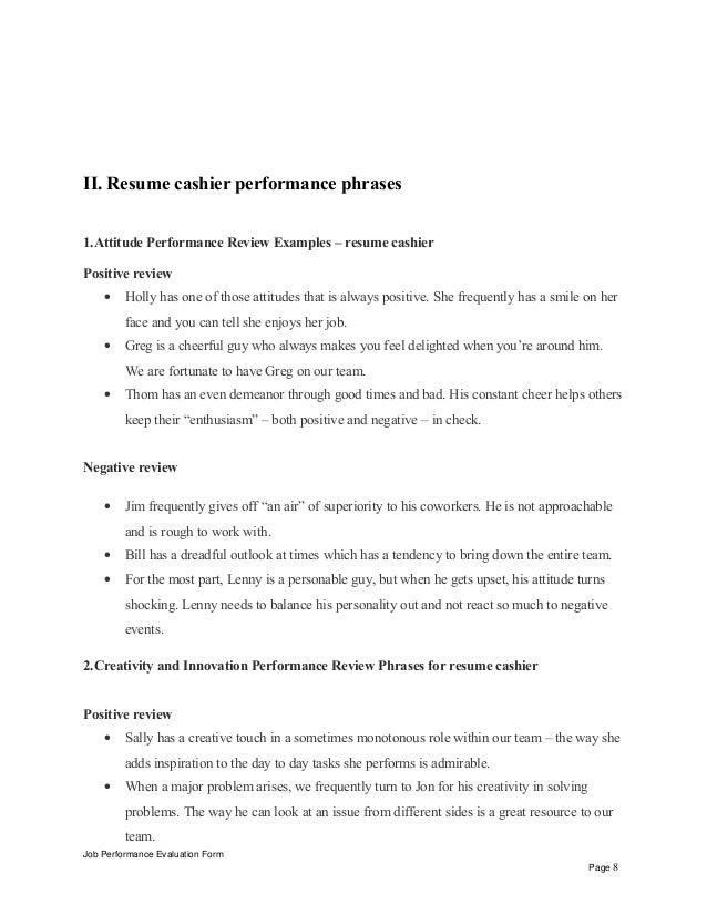 8 ii resume cashier. Resume Example. Resume CV Cover Letter