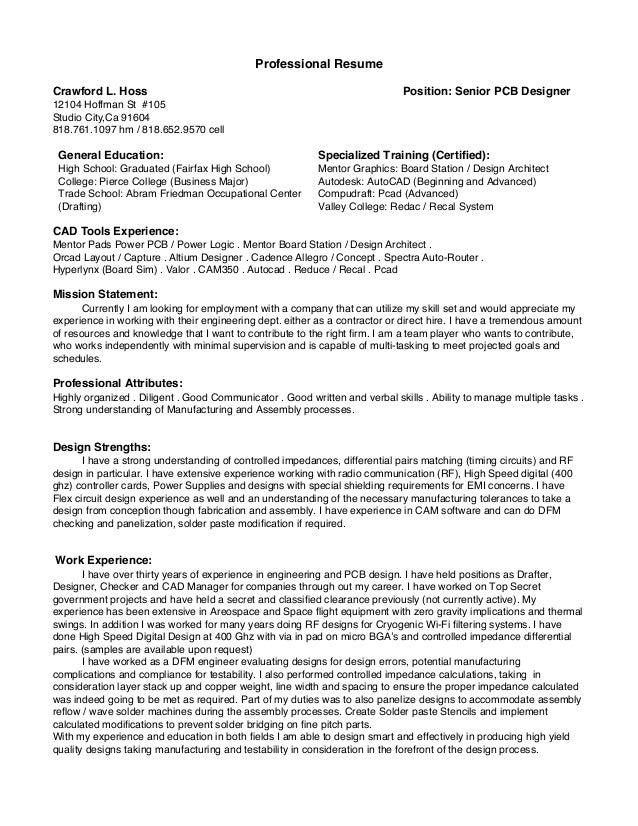 PCB Designer Resume Samples Velvet Jobs. Resume Ch2015