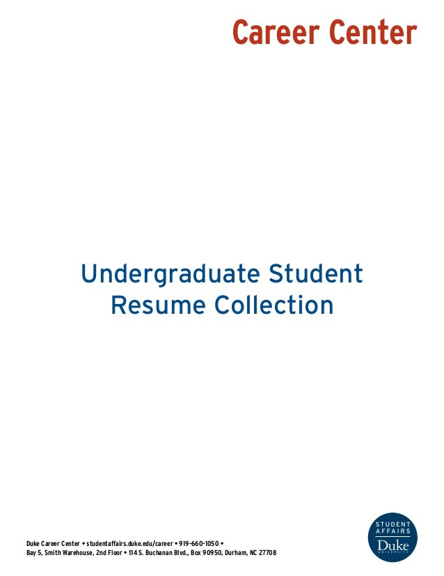 Undergraduate Student Resume Collection