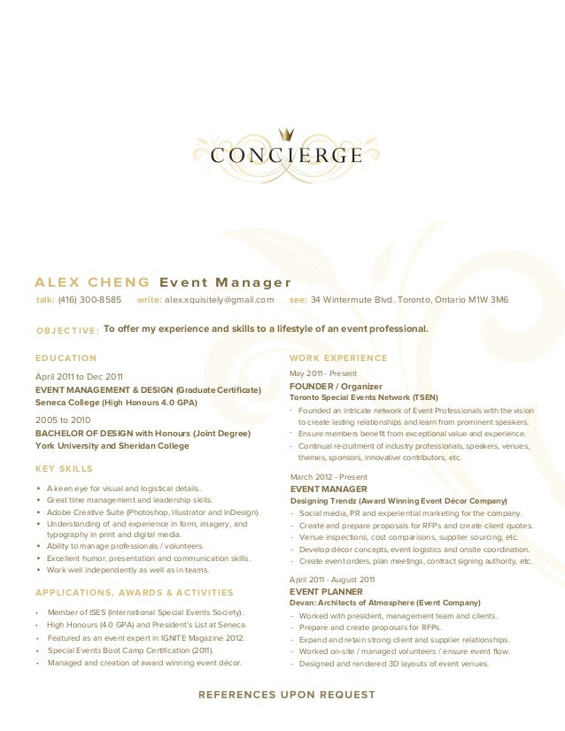 resume concierge  2013