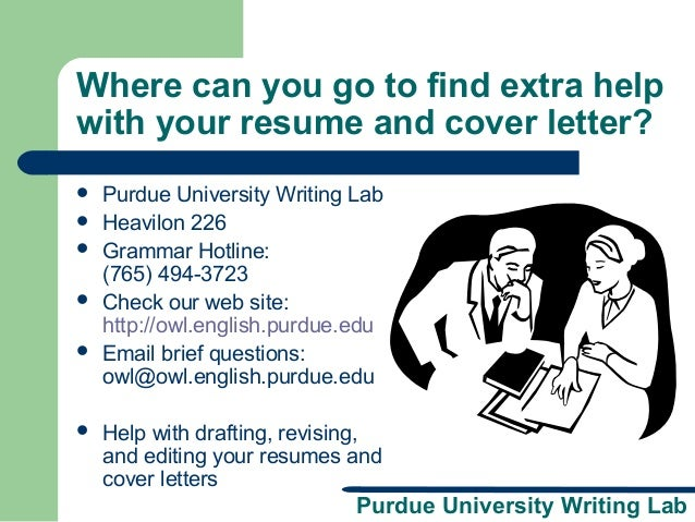 owl at purdue cover letters