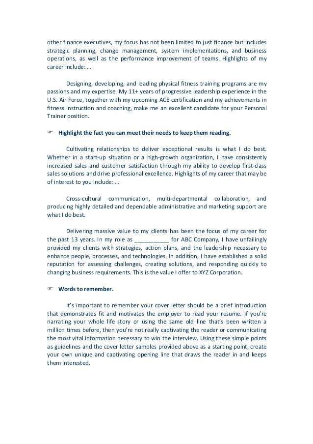 Cover Letter Start Unlike  Other Resume  Cover Letter