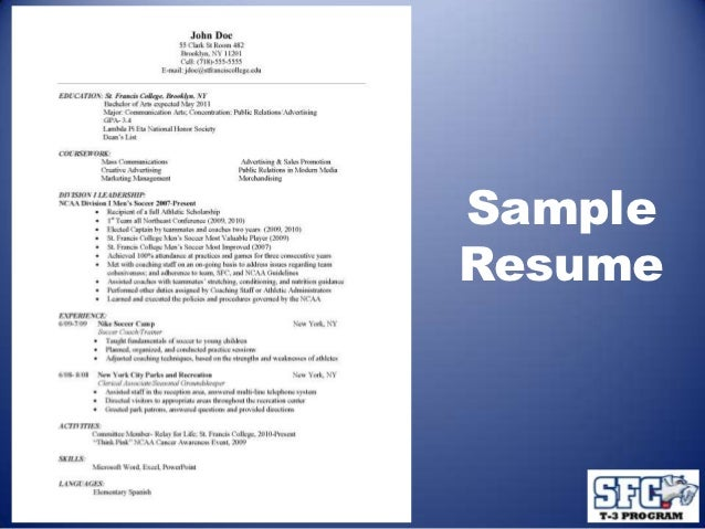 resume cover letter t 3 program