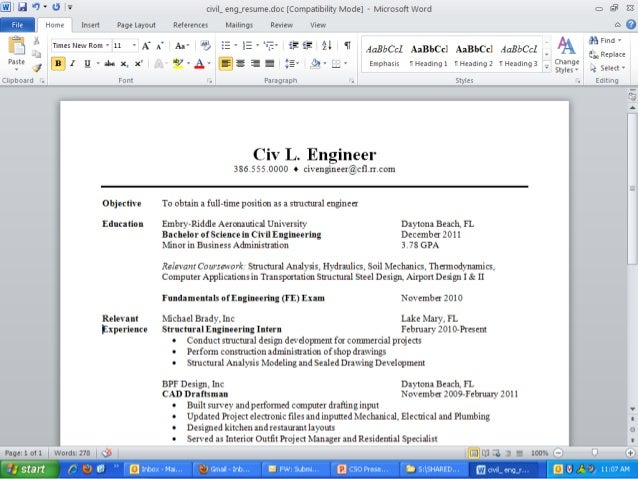 where to add experience in resume