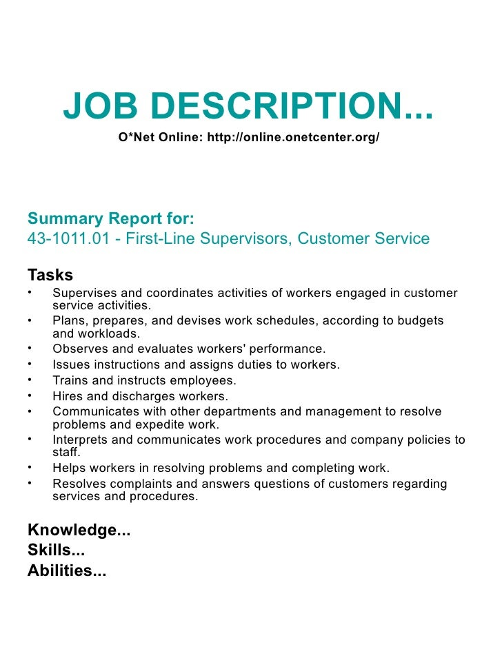 Cash Supervisor Job Description Resume And Coverletter