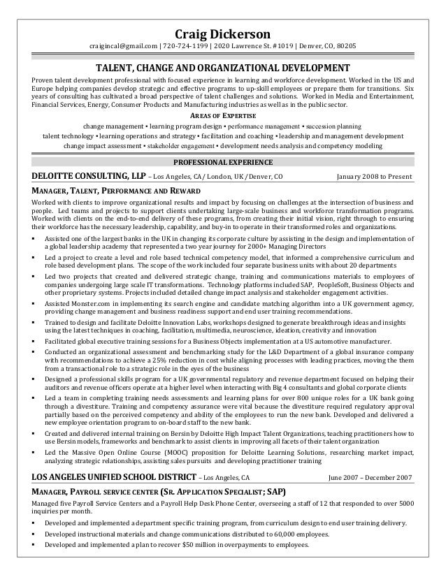 sample resume change management consultant sample resumes file careerbuilder