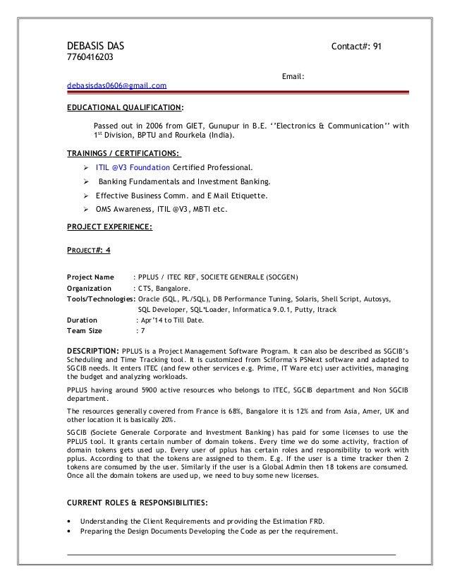 Resume Of Datawarehousing Developer