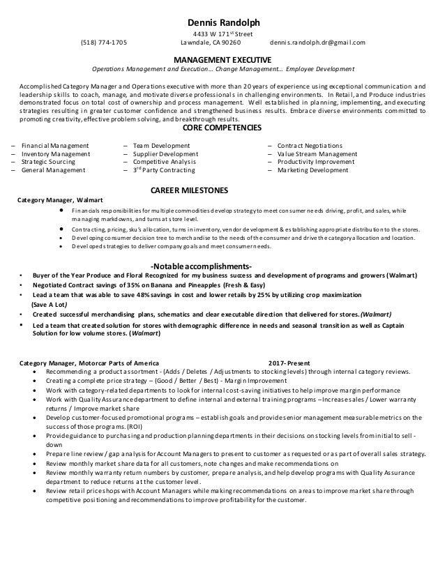 resume dennis randolph category manager doc