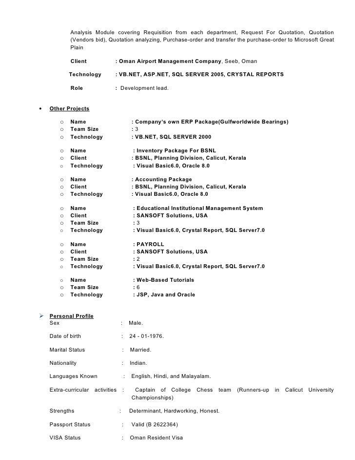 Detailed Resume
