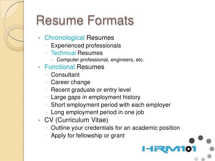 Chronological Functional Resume Urgup Kapook Co