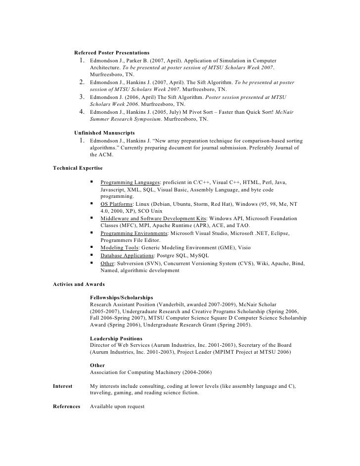 embedded systems and resume doc