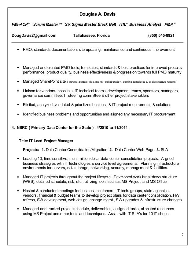 Resumes Format Doc Than CV Formats For Free Download  Six Sigma Resume