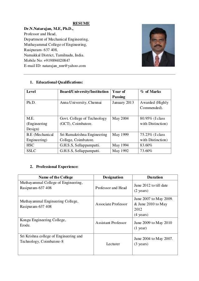 Assistant Professor Resume Format Resume Template Ideas