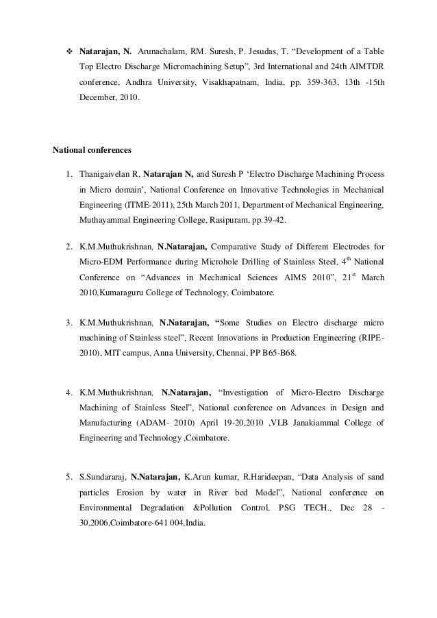 resume dr n natarajan 14 03 2014