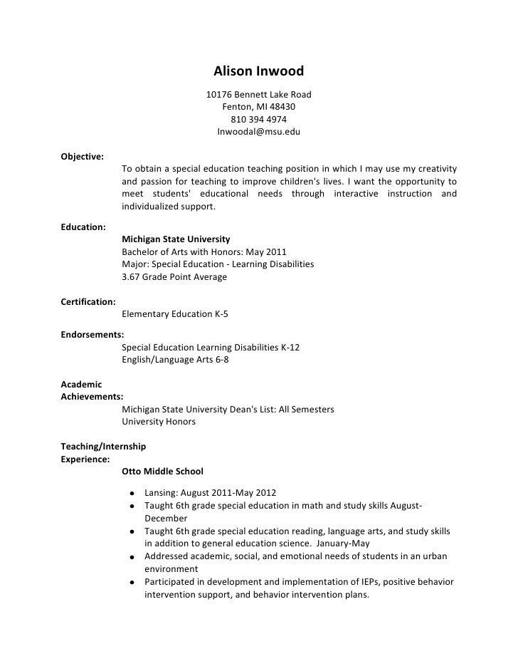 Resume draft