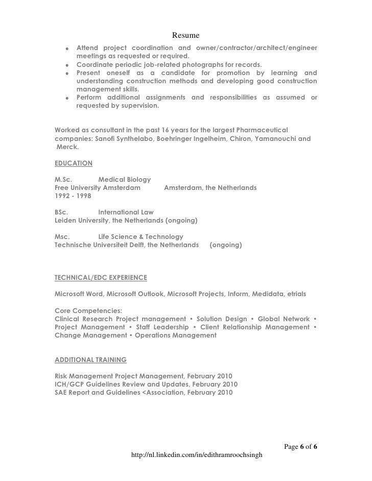 Resume Edith Ramroochsingh