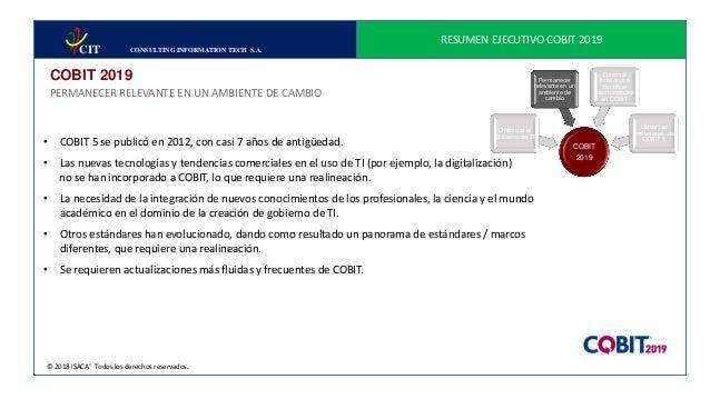 resume ejecutivo cobit 2019