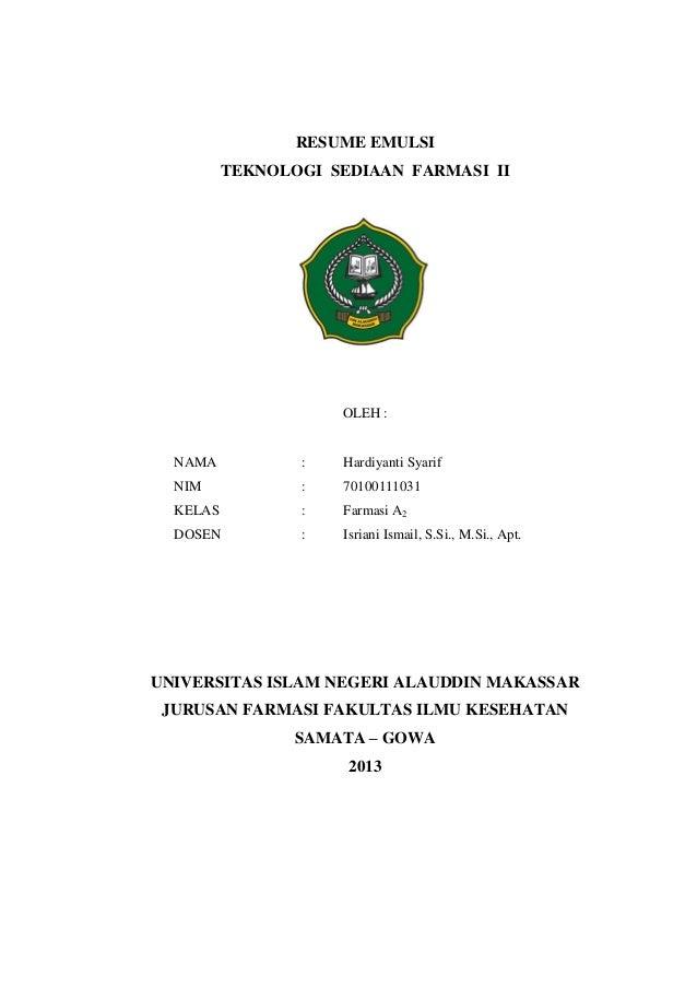Resume Emulsi Harsya