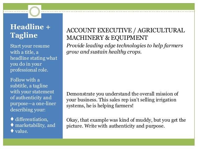 resume taglines