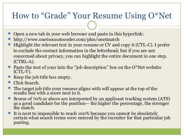 resume evaluation in three words 07312015