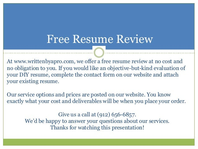 SlideShare  Free Resume Evaluation