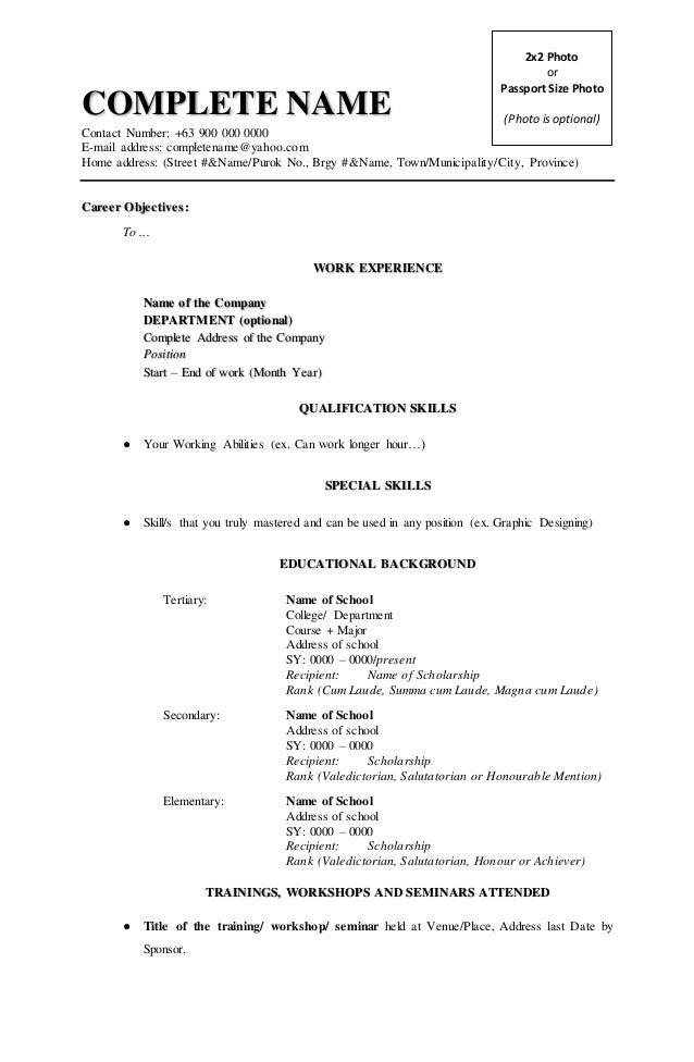 Resume Address Format Professional Resume Templates