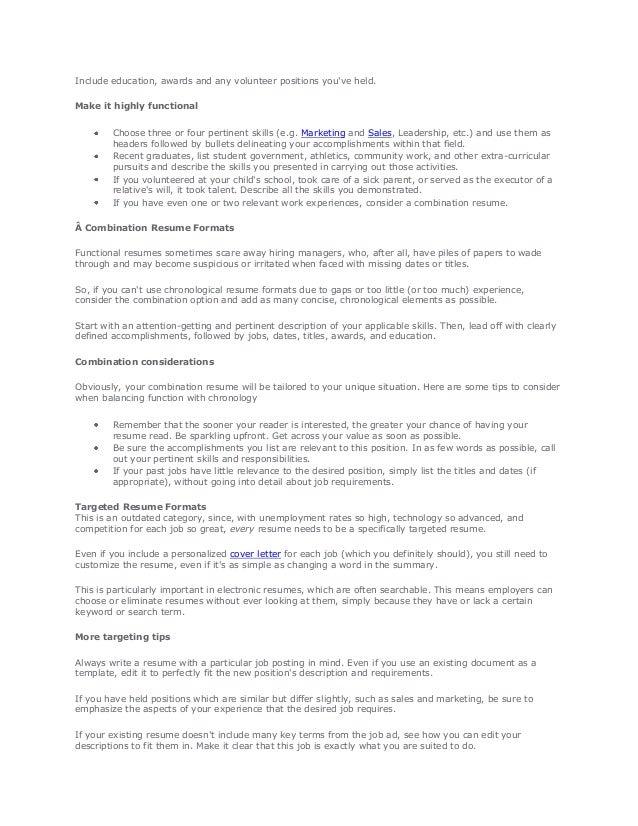 2 - Resume Format Job