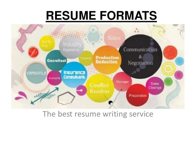 RESUME FORMATS The best resume writing service