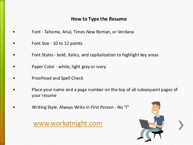 What Type Of Resume Format Should I Use  What Font Should A Resume Be In