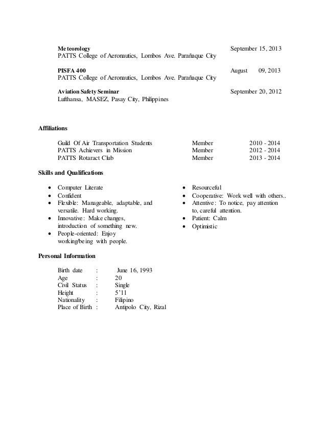 resume resume sample for ojt aircraft mechanic sample resume for ojt in airlines frizzigame aircraft mechanic - Sample Resume For Aircraft Maintenance Technician Ojt