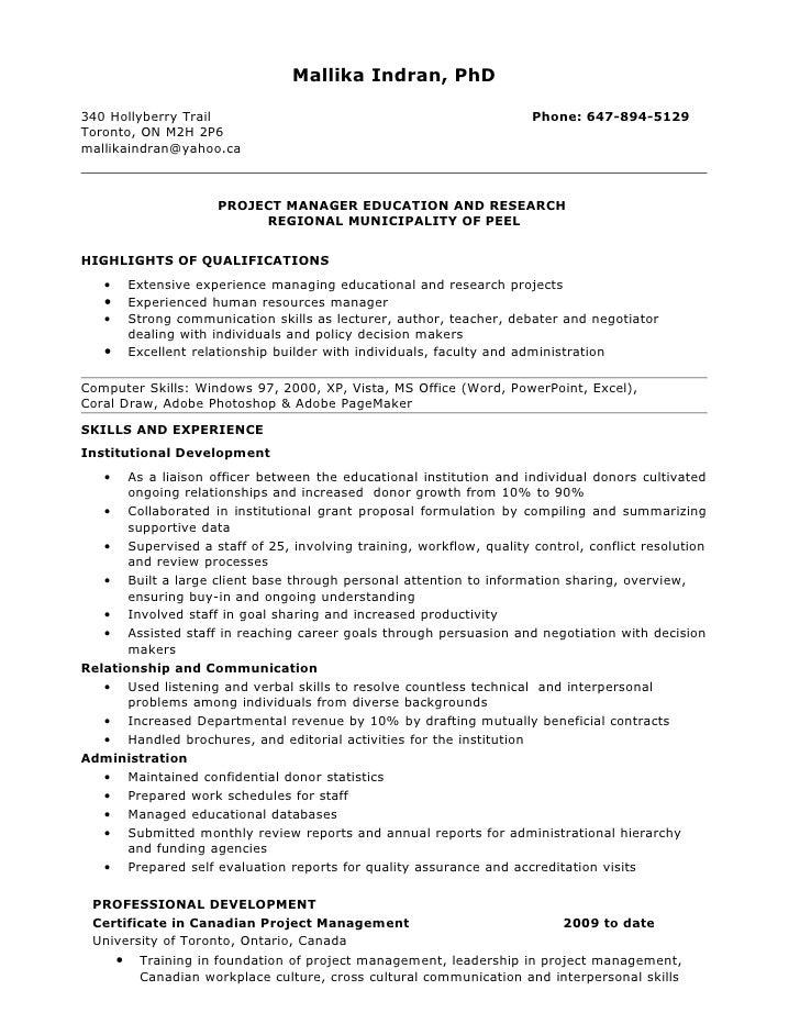 canadavisa resume builder sample of canadian resume of management - Canadian Resume Builder