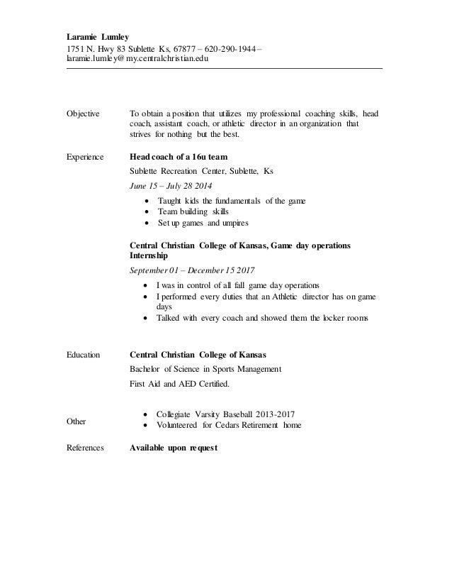 baseball resume - Muck.greenidesign.co