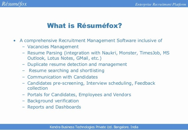 Parsing a resume