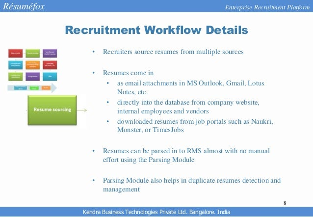 resumefox enterprise recruitment software with resume parser